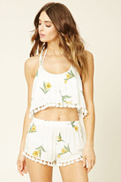 Forever 21 FOREVER 21+ Swim Cover-Up Cropped Cami