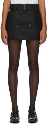Junya Watanabe Black Wool Houndstooth Trench Skirt