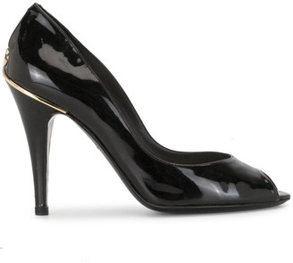 Chanel Pre Owned Peep Toe Pumps