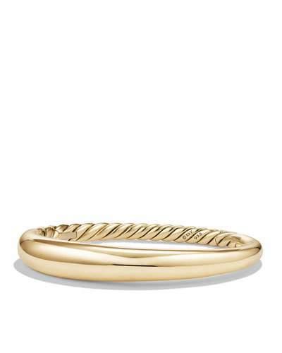 David Yurman 9.5mm Small Pure Form Hinge Bracelet in 18K Gold
