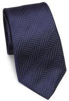 Armani Collezioni Chevron Stripe Silk Tie