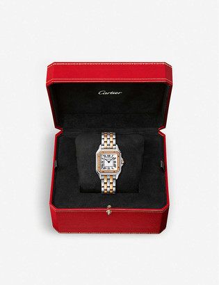 Cartier W3PN0007 Panthere de 18ct rose-gold, stainless steel and diamond watch