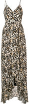 Nicole Miller V-neck leopard maxi dress
