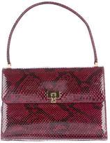 Lambertson Truex Python Top Handle Bag