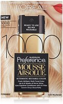 L'Oreal Superior Preference Mousse Absolue, 1000 Pure Lightest Blonde