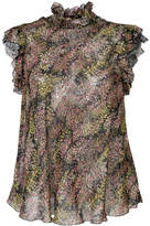 Giambattista Valli frilled sleeve floral blouse