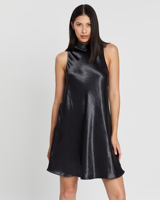 Banana Republic High Neck Satin Dress