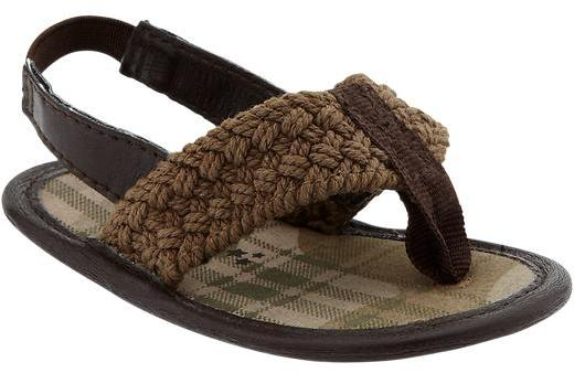 Old Navy Woven-Plaid Sandals for Baby
