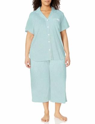 Karen Neuburger Women's KN Short Sleeved Girlfriend Crop Pajama