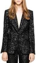 Zadig & Voltaire Virginie Deluxe Sequined Blazer