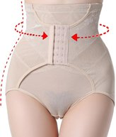 SEXYWG Women Tummy Control Tainer Hook & Eye Closure Slim-waist Shapes Hi Waist Brief