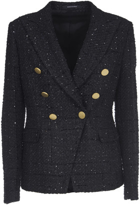 Tagliatore Sequins Black Jacket