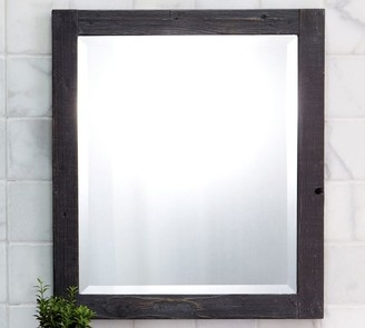Pottery Barn Siana Handcrafted Rectangular Wood Mirror