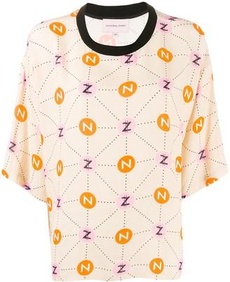 Natasha Zinko monogram-print T-shirt