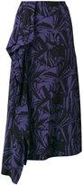Loewe floral print asymmetric skirt - women - Silk/Viscose - 36