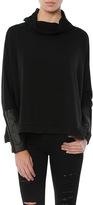 Generation Love Clara Leather Trim Oversized Funnel Neck Sweatshirt