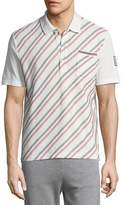 Moncler Gamme Bleu Embroidered Polo Shirt with Pocket