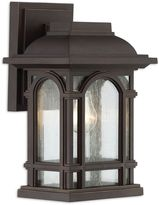 Quoizel Cathedral 11-Inch 1-Light Outdoor Wall Lantern in Palladian Bronze