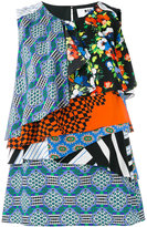 MSGM multi-print layered blouse