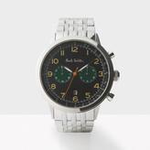Paul Smith Men's Black And Silver 'Precision' Chronograph Watch