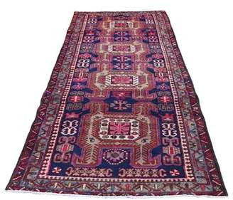 "Bungalow Rose One-of-a-Kind Nivens North West Persian Hand-Knotted Runner 3'6"" x 10'3"" Wool Blue Area Rug"