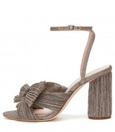 Loeffler Randall Camellia Knot Mule with Ankle Strap in Champagne