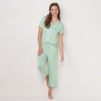 Lauren Conrad Women's Pajama Shirt & Pajama Capri Set