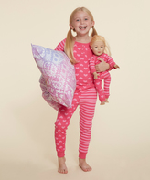 Dollie & Me Fuchsia Hearts Top Set & Doll Outfit - Girls