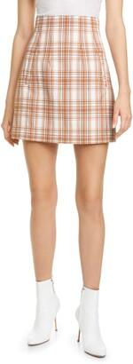 Veronica Beard Roman Plaid Miniskirt