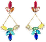 Lulu Frost Crystal & Pearl Drop Earrings