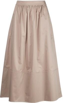 Tibi high-waisted A-line skirt