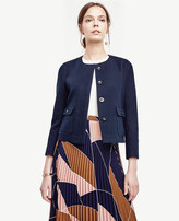 Ann Taylor Petite Cotton Twill Utility Jacket
