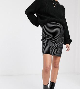 Mama Licious Mamalicious pinstripe skirt