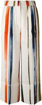 Sonia Rykiel painted-stripe trousers - women - Silk - 36