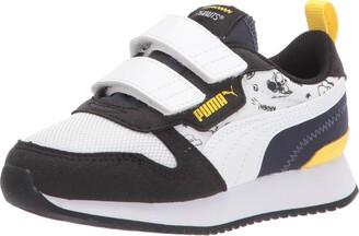Puma Peanuts R78 Hook and Loop Sneaker Black White-Peacoat 2.5 US Unisex Little Kid