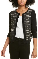Thumbnail for your product : Piazza Sempione Printed Cashmere & Silk-Blend Cardigan