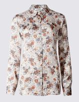 Marks and Spencer Graphic Daisy Print Long Sleeve Blouse