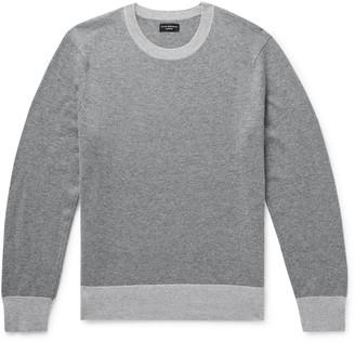 Club Monaco Contrast-Trimmed Cashmere Sweater