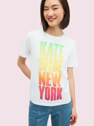 Kate Spade Rainbow Logo Tee
