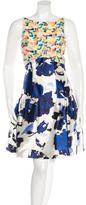 Oscar de la Renta Resort 2016 Sequin-Embellished Silk Dress