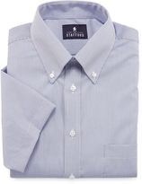 STAFFORD Stafford Travel Performance Short-Sleeve Oxford Dress Shirt