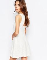 Vila Cutwork Lace Open Back Skater Dress