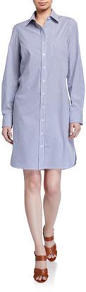 Finley Alex Ralph Stripe Button-Front Shirtdress