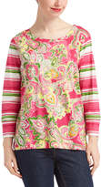 Caribbean Joe Ophelia Pink Floral Long-Sleeve Top