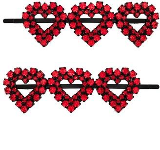 Ashley Williams Heart Crystal Hair Pins