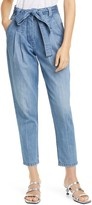 Rebecca Taylor Tie Paperbag Waist Ankle Jeans