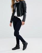 Noisy May Lucy Mid Waist Biker Skinny Jeans