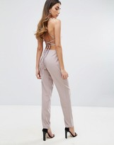 Missguided Strappy Back Slim Leg Jumpsuit