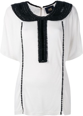 Class Roberto Cavalli embellished collar blouse