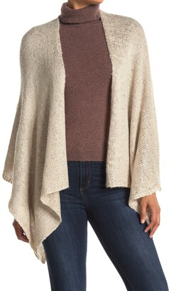 Modena Solid Knit Sequin Poncho